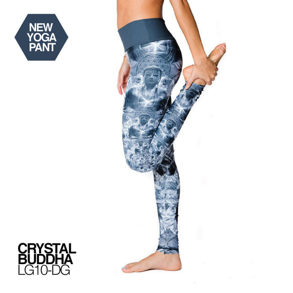 CRYSTAL BUDDHA  ~ HIGH WAIST FULL LENGTH YOGA LEGGINGS