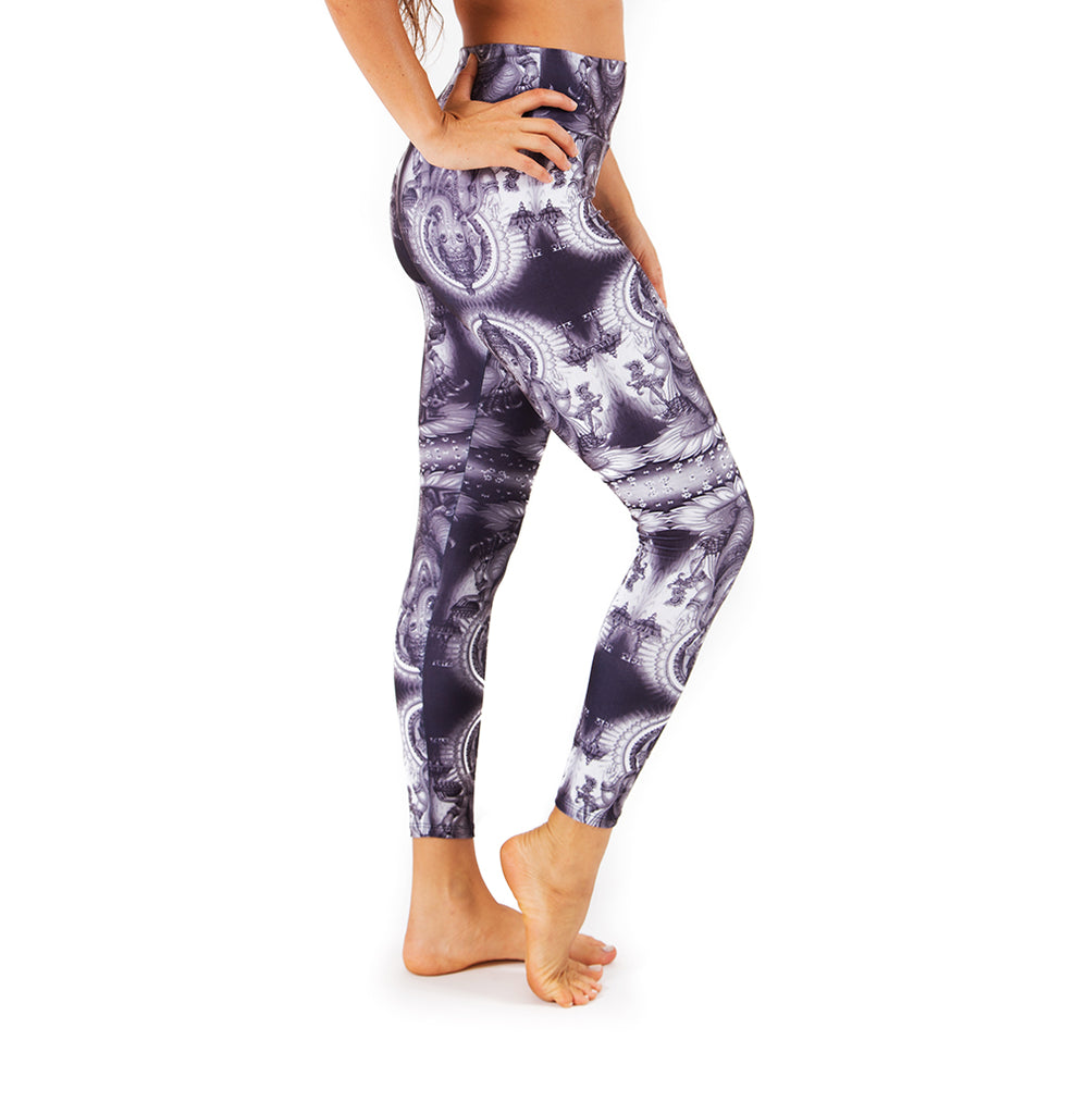 GANESH GREY ~ SUPER SOFT & LIGHT MICRO SUEDE YOGA PANTS (FITTED)