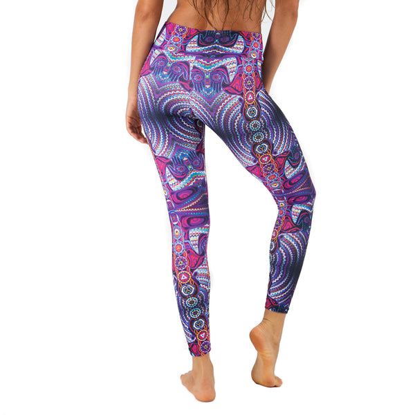 CHAKRAS PURPLE ~ SUPER SOFT & LIGHT MICRO SUEDE YOGA PANTS (FITTED)