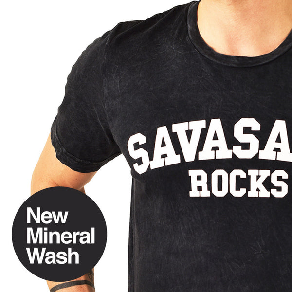 SAVASANA ROCKS MINERAL WASH CREW  FY265-MWC-BK - Funky Yoga  Gear & Accessories