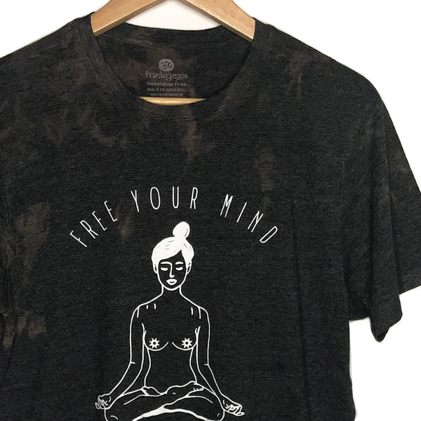 FREE YOUR MIND ~ BLACK MENS TRIBLEND VINTAGE CREW