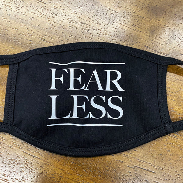 FEAR LESS ~ BLACK COTTON PROTECTIVE MASK  ~ SHIPS IMMEDIATELY