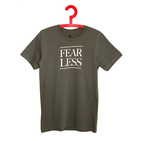 FEARLESS ~  ARMY STONE MEN SHEER JERSEY CREW T-SHIRT