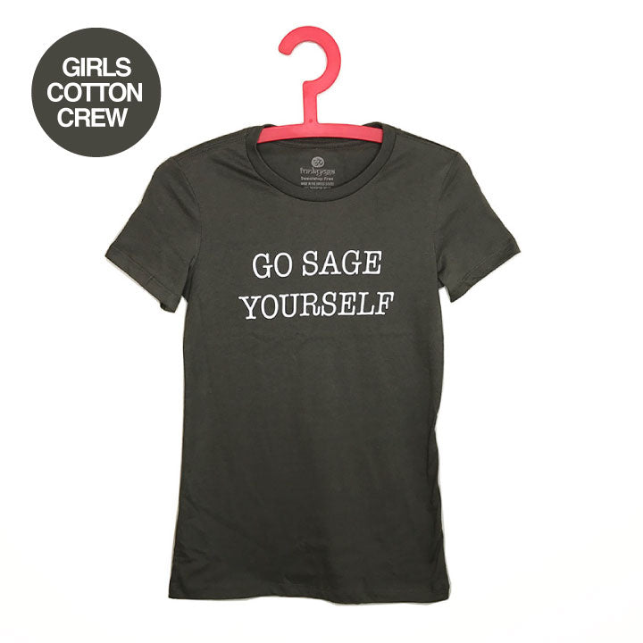 GO SAGE YOURSELF ~ SOLID ARMY STONE COTTON SHEER TEE