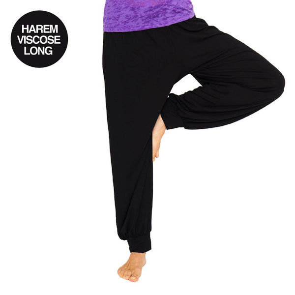 NAMASTE BASICS BLACK HAREM VISCOSE LONG