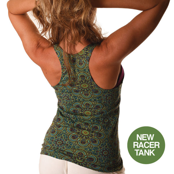 SUPER SOFT SUNFLOWER GREEN RACER TANK