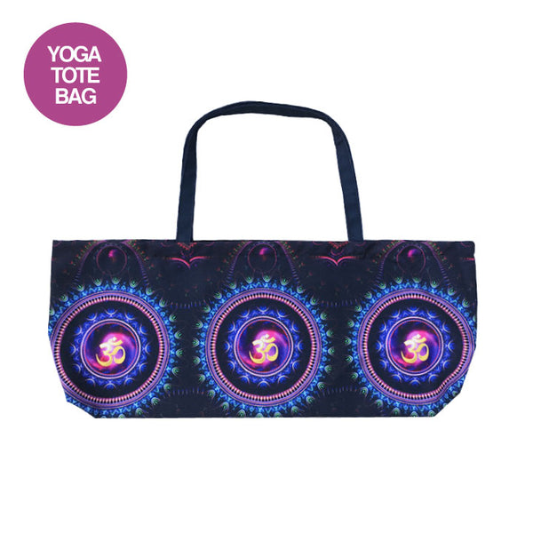 MANDALAS OM ~ WATERPROOF RECYCLED YOGA TOTE 32X10