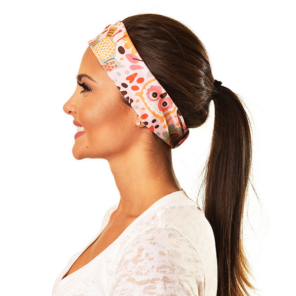 CUTE OWLS YOGA RECYCLED HEADBAND  YRH-OWLS - Funky Yoga  Gear & Accessories