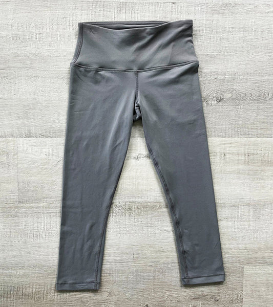 STEEL GREY ~  REFLEX  CAPRI YOGA PANTS