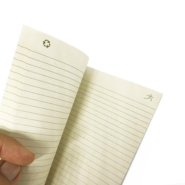 INHALE EXHALE 100% POST CONSUMER RECYCLED RULED NOTEBOOK