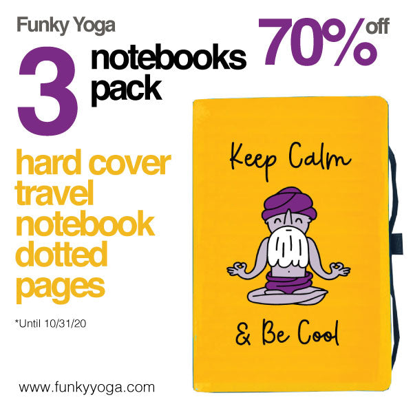 3-PACK KEEP CALM & BE COOL ~ HARD COVER TRAVEL NOTEBOOK ~ 192 Dotted Pages