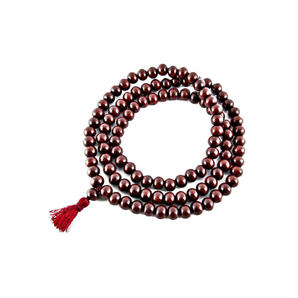 RED SANDALWOOD PRAYER MALA -10MM