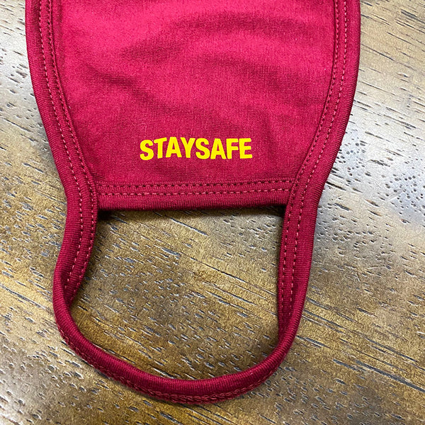 STAYSAFE ~ DARK RED COTTON PROTECTIVE MASK  ~ SHIPS IMMEDIATELY