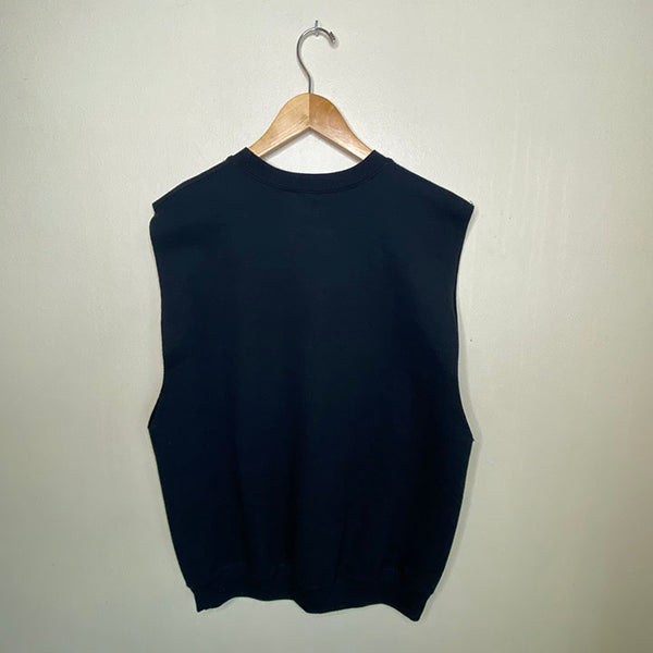 YOGAHOLIC ~  UNISEX BLACK FLEECE SLEEVELESS TOP