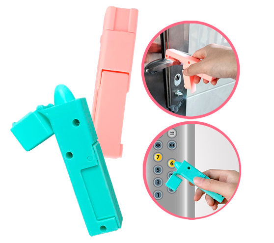 NO-TOUCH PORTABLE REUSABLE DOOR OPENER / ELEVATOR / TOUCH PAD TOOL