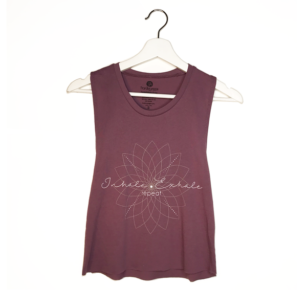 EXHALE REPEAT ~ SHIRAZ COTTON MUSCLE CROPPED TANK
