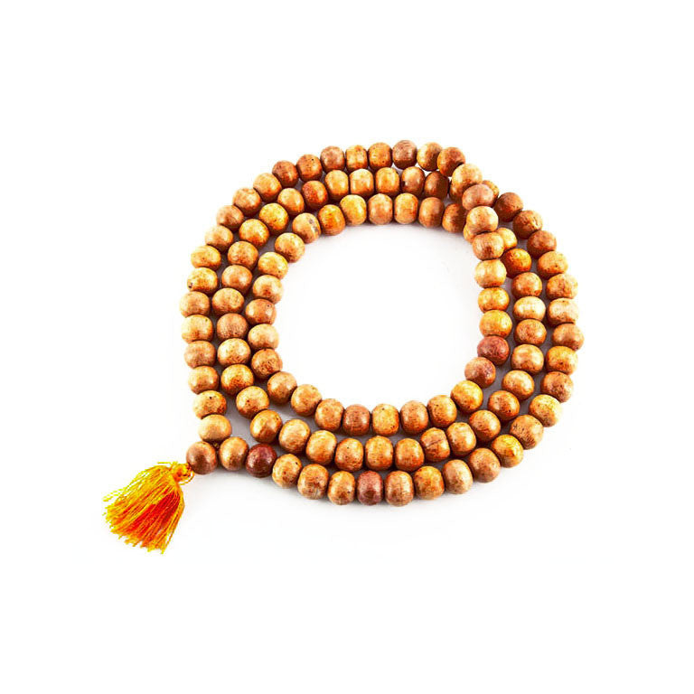 TIBETAN NATURAL WOOD MALA BEADS - 10mm