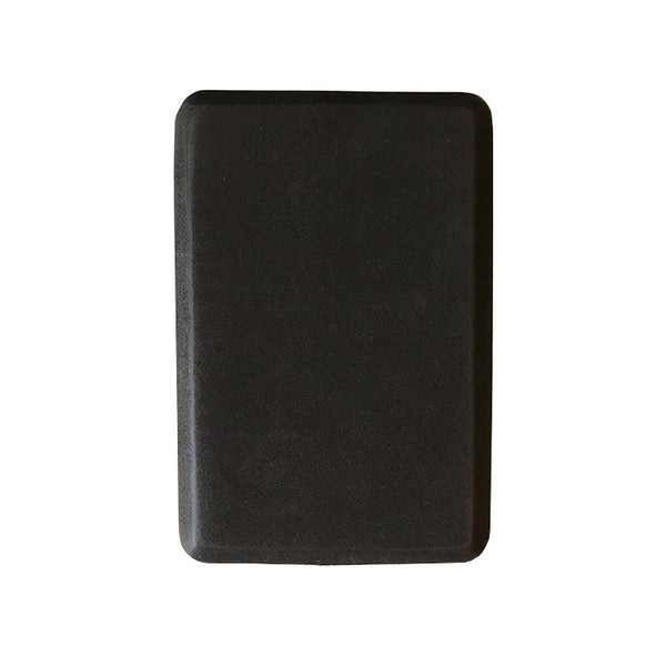 4-INCH THICK RECYCLABLE WARRIOR BLACK YOGA BLOCK - Funky Yoga  Gear & Accessories