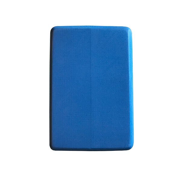 4-INCH THICK RECYCLABLE WARRIOR BLUE YOGA BLOCK - Funky Yoga  Gear & Accessories