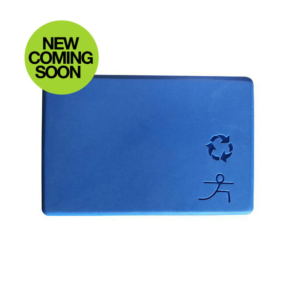 4-INCH THICK RECYCLABLE WARRIOR BLUE YOGA BLOCK