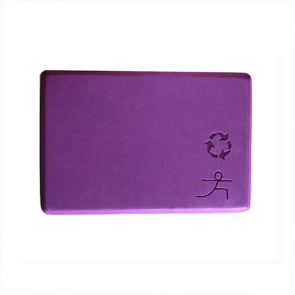 4-INCH THICK RECYCLABLE WARRIOR PURPLE YOGA BLOCK