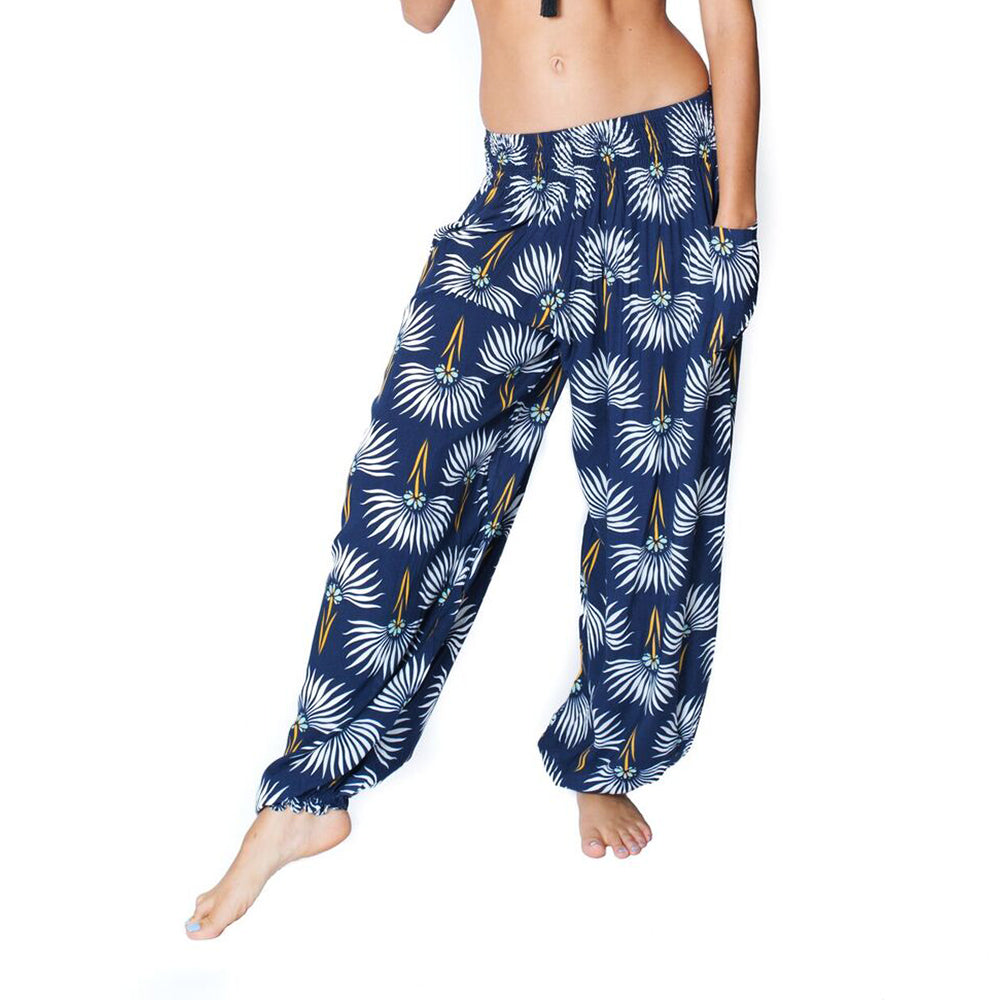 DANDELION FLOWER THAI HAREM POCKET PANTS