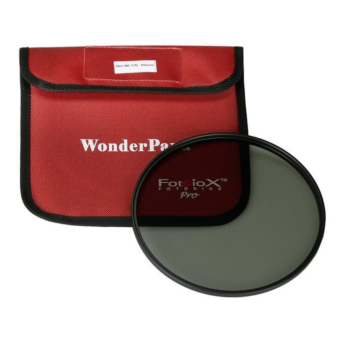 Fotodiox Pro 186mm Slim MC-CPL Filter - Multi-Coated Circular Polarizer Filter for WonderPana XL System