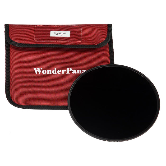 Fotodiox Pro 186mm Slim ND 1000 Filter - Neutral Density 1000 (10-Stop) Filter for WonderPana XL System