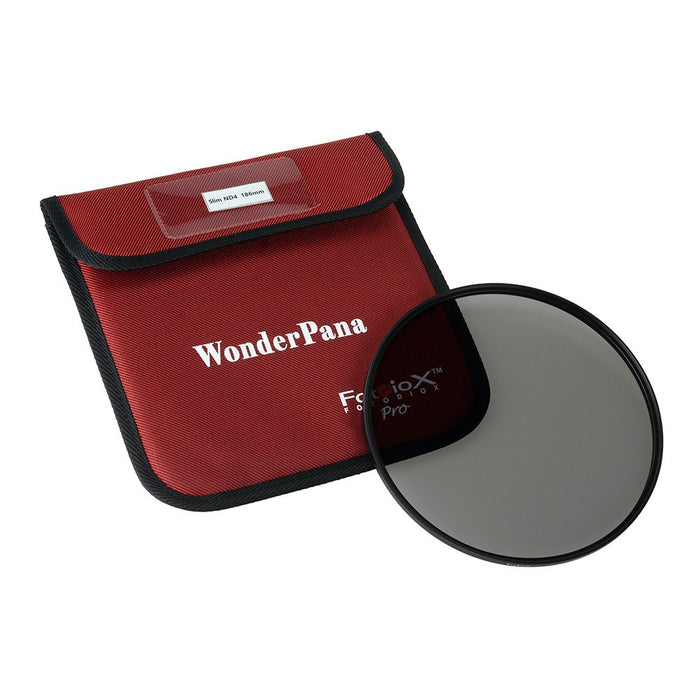 Fotodiox Pro 186mm Slim ND 4 Filter - Neutral Density 4 (2-Stop) Filter for WonderPana XL System