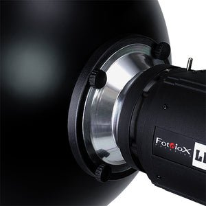 Fotodiox Pro Beauty Dish with Speedotron Speedring for Speedotron Black and Brown Line - All Metal, Soft White Interior