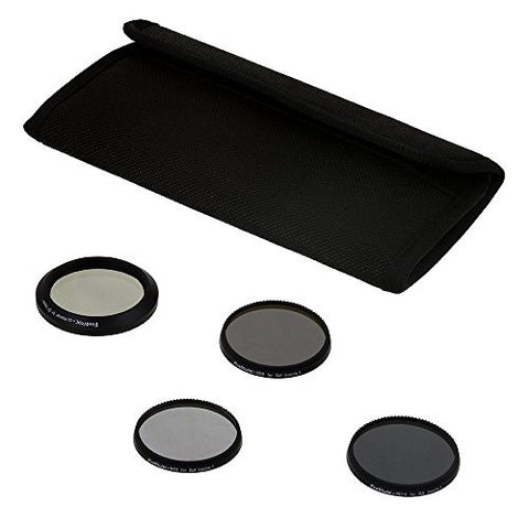 Fotodiox Four (4) Piece Filter Kit for DJI Inspire 1 Drone - ND4, ND8, ND16 & CPL Filters f/ Zenmuse X3 Camera