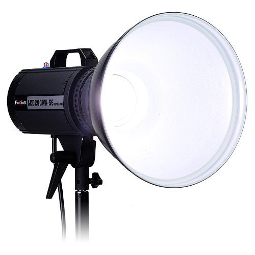 Fotodiox Pro LED-200WA-56 Daylight Studio LED, High-Intensity LED Studio Light for Still and Video - with Dimmable Control, 12V AC Power Adapter, Light Stand bracket