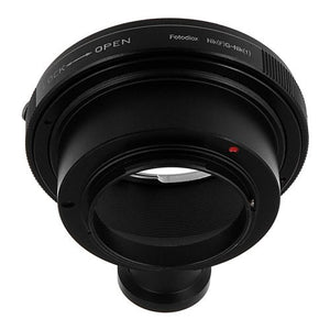 Fotodiox Lens Adapter with Built-In Aperture Control Dial - Compatible with Nikon F Mount G-Type D/SLR Lenses to Nikon 1-Series Mirrorless Cameras