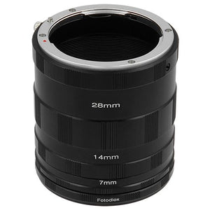 Fotodiox Macro Extension Tube Set for Nikon F Mount SLR Cameras for Extreme Close-up Photography
