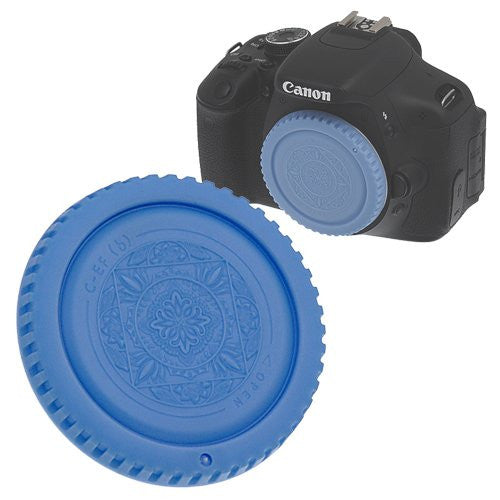 Fotodiox Designer Lens Rear Cap Compatible with Canon EOS EF and EF-S Lenses Blue