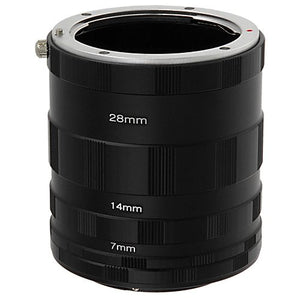 Fotodiox Macro Extension Tube Set for Olympus 4/3 (OM4/3 or 4/3) Mount Mirrorless Cameras for Extreme Close-up Photography