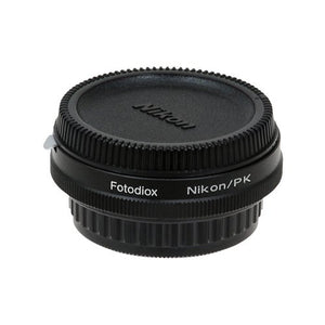 Fotodiox Pro Lens Mount Adapter - Nikon Nikkor F Mount D/SLR Lens to Pentax K (PK) Mount SLR Camera Body