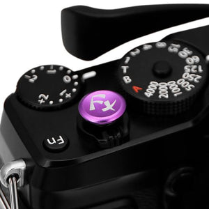 Fotodiox Soft Shutter Release Button - Anodized Aluminum 12mm Concave Button for Cameras with Shutter Button Screw Hole