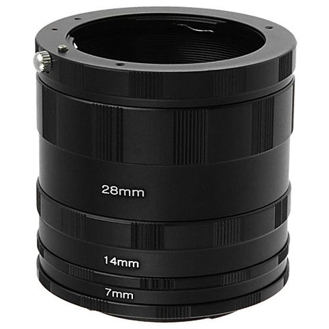 Fotodiox Macro Extension Tube Set for Pentax K (PK) Mount SLR Cameras for Extreme Close-up Photography