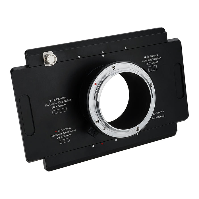 Fotodiox Pro Lens Mount Adapter, Hasselblad XCD Mount Mirrorless Digital Camera Back (such as X1D-50c) to Large Format 4x5 View Cameras with a Graflok Rear Standard - Shift / Stitch Adapter