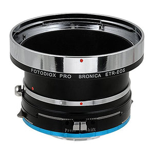 Bronica ETR Mount SLR Lenses to Fujifilm X-Series (FX) Mount Camera Bodies