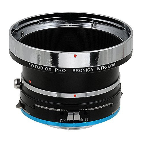 Fotodiox Pro Lens Mount Shift Adapter - Bronica ETR Mount SLR Lenses to Fujifilm Fuji X-Series Mirrorless Camera Body
