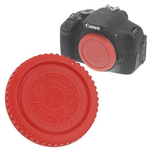 Fotodiox Designer Red Body Cap for All Canon EOS EF & EF-s Cameras