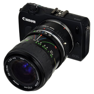 Fotodiox Lens Mount Adapter - Contax/Yashica (CY) Lens to Canon EOS M (EF-M Mount) Mirrorless Camera Body