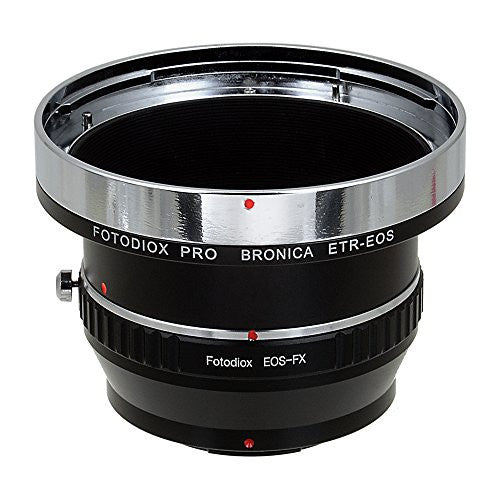 Fotodiox Pro Lens Mount Adapter - Bronica ETR Mount SLR Lenses to Fujifilm Fuji X-Series Mirrorless Camera Body