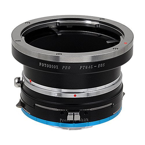 Fotodiox Pro Lens Mount Shift Adapter - Pentax 645 (P645) Mount SLR Lens to Fujifilm Fuji X-Series Mirrorless Camera Body