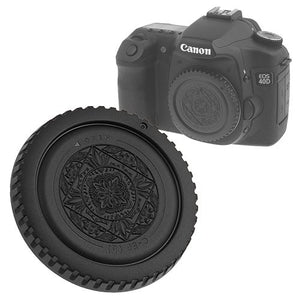 Fotodiox Designer Black Body Cap for All Canon EOS EF & EF-s Cameras