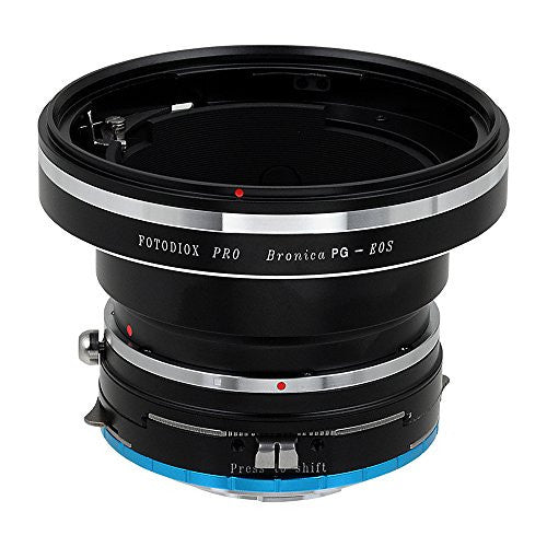 Fotodiox Pro Lens Mount Shift Adapter - Bronica GS-1 (PG) Mount SLR Lenses to Fujifilm Fuji X-Series Mirrorless Camera Body