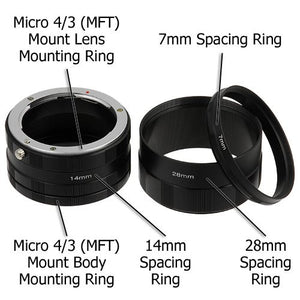 Fotodiox Macro Extension Tube Set for Micro Four Thirds (MFT, M4/3) Mount Mirrorless Cameras for Extreme Close-up Photography