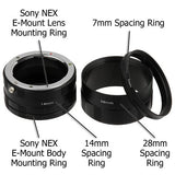 Fotodiox Macro Extension Tube Set for Sony Alpha E-Mount Mirrorless Cameras for Extreme Close-up Photography